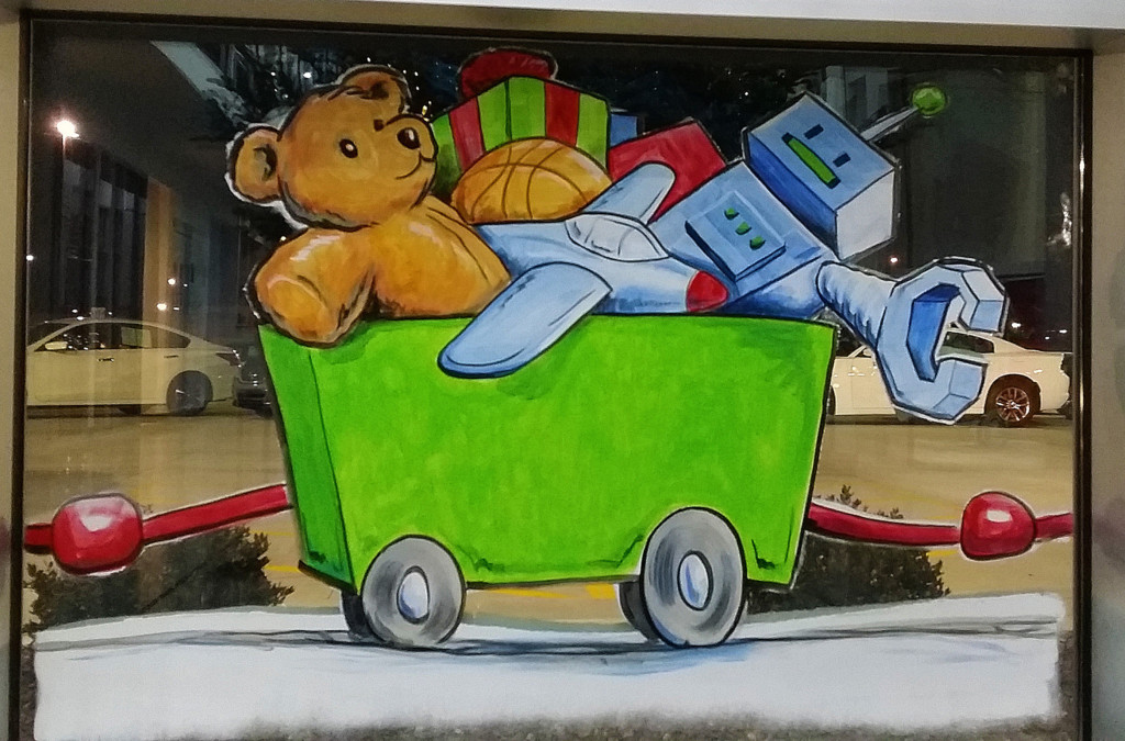 christmas toys window painting