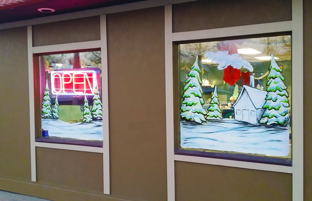 holiday window painting springfield illinois