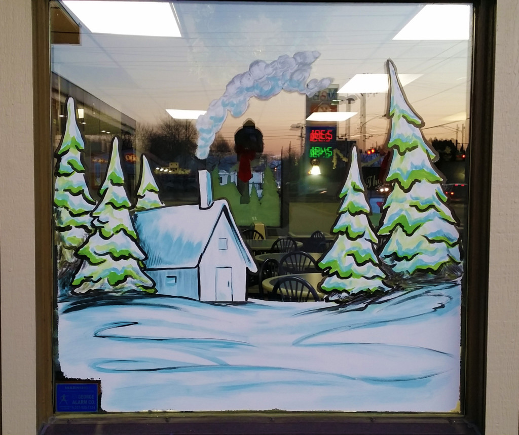 holiday window painting springfield illinois